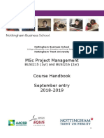 Course Handbook MSc PM 2018-19