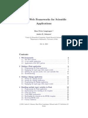 web4sa pdf | Model–View–Controller | Web Application