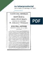 La Guerra Interprovincial de 1821