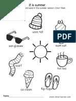 Summer Activity Worksheet Preschool