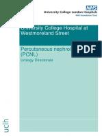 Percutaneous nephrolithotomy (PCNL)