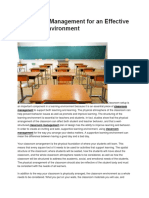 Classroom Management for an Effective Learning Environment WORD.docx