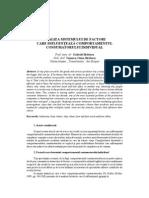 Analiza Sistemului de Factori Care Influenteaza Comportamentul Consumatorului Individual