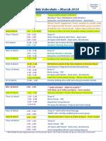 Monthly Schedule Mar2019