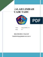 MAKALAH LIMBAH CAIR TAHU.docx