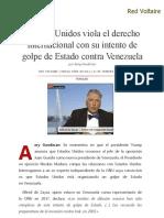 Estados Unidos Viola El Derecho Internacional _con Su Intento de Golpe de Estado _contra Venezuela, Por Amy Goodman
