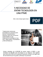 LA NECESIDAD DE IMPLEMENTAR TECNOLOGÍA EN UNA PYME.pptx