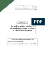 Rapport Du Stage Au LRDEHM à Marrakech - Copie