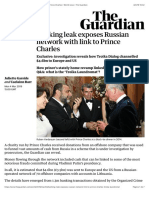 Banking leak exposes Russian network with link to Prince Charles | World news | The Guardian
