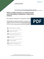 Effect of Image Resolution on Intensity Based Scene Illumination Classification Using Neural Network