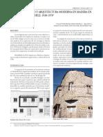 Urbanismo Y Arquitectura Moderna En Madera En El Sur De Chile