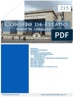 Consejo de Estado - Boletín de jurisprudencia No. 215 de 2018