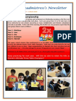 Newsletter No 67 - 1st March 2019