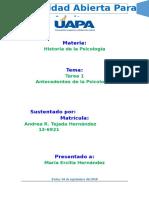 Historia de la Psicología. Tarea 1..doc