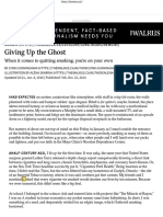 Giving Up the Ghost · the Walrus