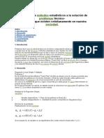 Análisis de Los Métodos Estadísticos a La Solución de Problemas Técnico