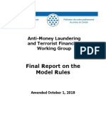 Anti-Money Laundering and Terrorist Financing Working Group