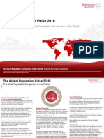 Global Reputation Pulse 2010