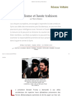 Djihadisme Et Haute Trahison, Par Thierry Meyssan