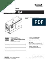 Vantage 500 Code 11467 Español