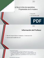 CLASE N°2 CARACTERISTICAS DE LA MADERA