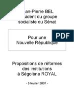 Rapport de Jean-Pierre Bel