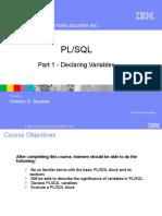 PLSQL Part1 Declaring Variables