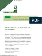 DIETA 3×1® PARA EL CONTROL DE LA DIABETES – Diabetes Sin Problemas
