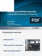 Auditing 6LoWPAN networks using Standard Penetration Testing Tools