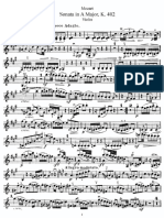 Mozart violin sonata in a major