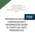 Diferencias Entre Comunicación e Información - Ensayo