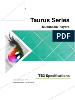 Taurus Series Multimedia Player TB3 Specifications-V1.3.0 (1)