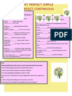 Present Perfect Simple and Continuous Grammar Drills 87493