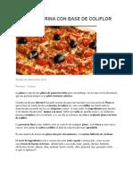 Pizza Sin Harina Con Base de Coliflor