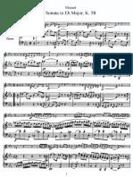 mozart violin sonata in eb major