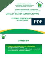 Relacion Nutrientes Plantas (Primera Parte)