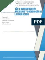 Educación y Reproducción Económica