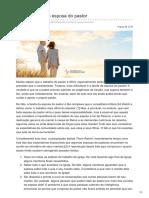 voltemosaoevangelho.com-A difícil tarefa da esposa do pastor