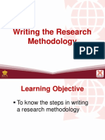 Writing the Research methodology