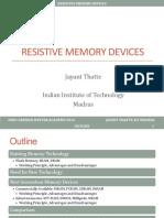 Presentacion RRAM Tipos de Memorias