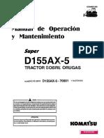 Manual de Operación y Mantención Bulldozer Komatsu D155AX-5