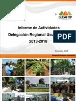 Presentacion Inf. de Actividades Delegacion Usumacitna Diciembre 2018