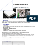 Product Manual of Fiber Access Termination