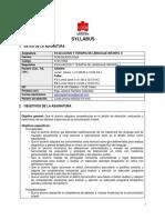 Syllabus Evaluación y Terapia de Lenguaje Infantil II  2018.docx