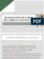 Realización de Corte de Cabello Con Navaja