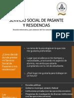 Servicio Social de Pasante y Residencias b 2018