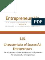 Module 3 - Entrepreneurship