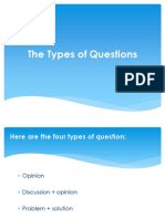 The Types of Questions