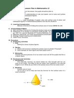 Lesson Plan in Mathematics VI