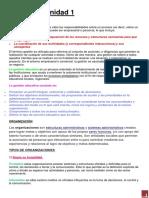 1 Gestion y Organizacion de La Educacion Fisica